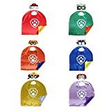 superhero costumes masks capes satin costume mask cape satins Paw Patrol (Paw Patrol set of 6)