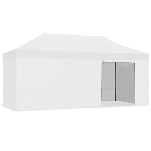 Mc Haus CARPLE-3X6 Gris Claro Carpa Plegable 3x6m Impermeable Eventos Plegado facil Color Blanco Gazebo