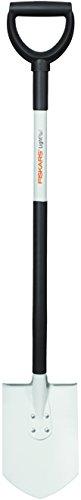 Fiskars Bêche à bord pointu pour sol dur et caillouteux, Longueur: 105 cm, Lame en acier de qualité/Manche en aluminium, Noir/Blanc, Light, 1019605