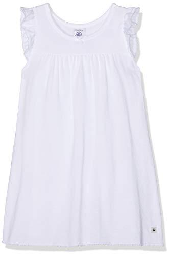 Petit Bateau Mädchen Chemise De Nuit Mc_4688701 Nachthemd, Weiß (Ecume 01), 116