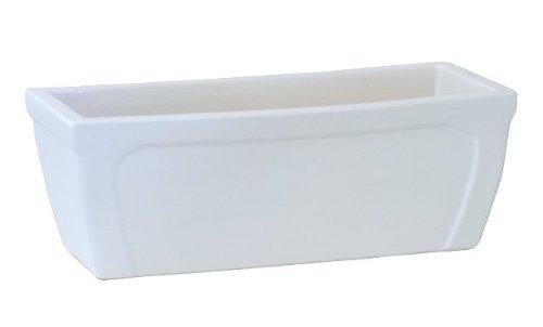 Flair - 48 x 20 x 18 cm, blanc, mat, résiste au gel, en grès (céramique de grès de qualité)