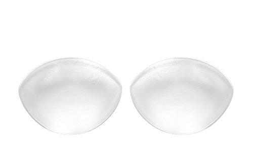 Traum-hochzeitskleid (Sodacoda - 260g/Paar - Transparent - Große Silikon Brüste Einlagen für BHS und Badeanzüge - passend für Körbchengröße A-D)