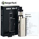 E Cigarette,Kangertech Subox Mini C Vape Kit 2ml Electronic Cigarette Kbox mod ,Huge Vapour Protank 5 Atomizer Kanger No E Liquid, Nicotine Free from ET