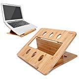 iCozzier Bambus Faltbarer Laptop-Ständer, verstellbare Halterung für Notebook/Tablet/Schreibtisch/Bett für MacBook, Netbook, Ultrabook