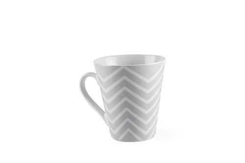 Excelsa Zig Zag Tasse Mug, Porcelaine, Gris