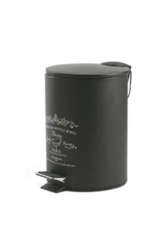 Galileo Casa - Cubo Basura 3 litros Color Negro Satinado