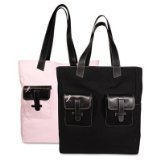 Day-Timer Pink Ribbon Reversible Canvas Tote (48479) by Day-Timer -
