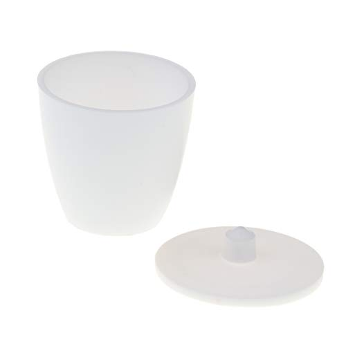 Weiß Tiegel Schmelztiegel Porzellantiegel Labor Werkzeug mit Deckel - Weiß, 30 ml Kapazität