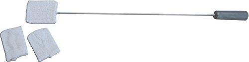 Pflegehome24® Zehenwascher mit langem Griff, Waschlappen für Zehen, Waschhilfe inkl. 3 Frotteebezüge - Lange Griff-schwämme