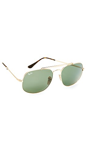 Ray-Ban Men's The General Square Aviator Sunglasses, Gold/Green, One Size