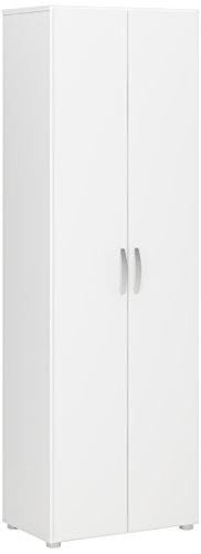 eckschrank 2-Türig 3 Einlegeböden, Spanplatte, Weiß,, 68 x 34 x 175 cm ()
