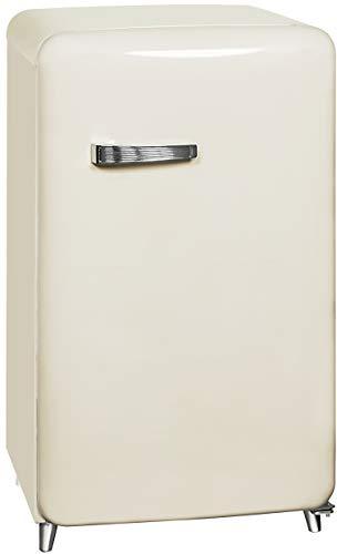 Exquisit RKS 130-11 A++MW Retro-Kühlschrank/EEK: A++/4* Gefrierfach/121 Liter/ Retro-Handgriff/Magnolienweiß