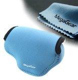 MegaGear Ultraleichte Kameratasche aus Neopren-Marterial für Nikon V3 mit 10-30 Objektiv (Blau)