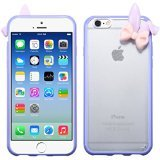 Best Mybat Iphone 6 Case Purples - MyBat T-Clear/Taro Gummy Cover with Rabbit Ears Review