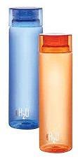Cello H2O Water Bottle Set, 1 Litre, Set of 2, Multicolor