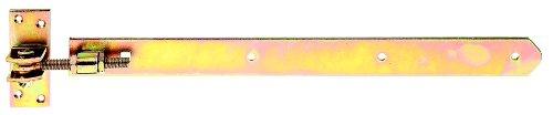 GAH-Alberts 318253 Ladenband, gerade, Abschluss abgerundet, verstellbar um 30 mm, galvanisch gelb verzinkt, 460 x 40 mm / M12