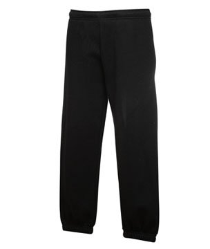 Fruit Of The Loom Childrens/Kids Unisex Jog Pants / Jogging Bottoms (7-8) (Black)