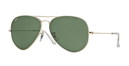 Ray-Ban RB 3025 Aviator Arista Gold w/ Gray Green (G-15) Lens 62-14-135