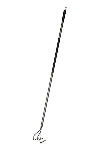 Fiskars Grubber, Länge: 165 cm, Stahlzinken/Aluminium-Stiel, Grau/Schwarz, Ergonomic, 1001301