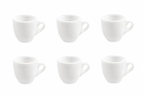 Galileo casa 2411287 set 6 tazzine, porcellana, bianco, 6 unità