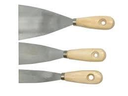 4 tlg Spachtel Set Japanspachtel 50 80 100 120mm