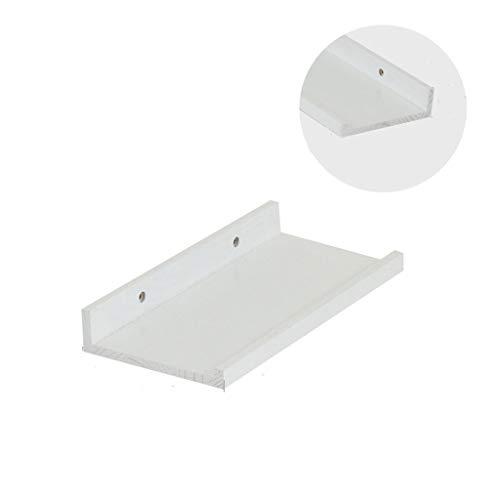 ZKKZ Schwimmende Regale an der Wand befestigtes festes Holzregal für Schlafzimmer-Wohnzimmer-Badezimmer-Weiß (größe : Length-30cm) -