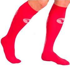 Medilast D320RB - Calcetines de running unisex, color rojo, talla M