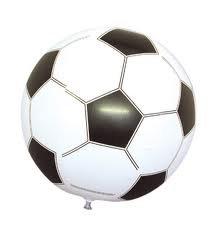 f6bbe789 eBuyGB Balón Hinchable de fútbol, 40 cm, 6 Unidades
