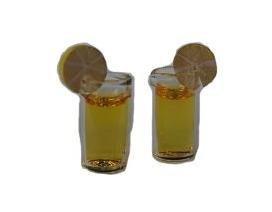 Unbekannt 2 Trinkbecher - Trinkglas / Miniatur - Küche Orange Limonade Limonadenglas Cocktailglas - für Puppenstube / Puppenhaus - Maßstab 1:12 - Diorama (Miniatur-limonade)