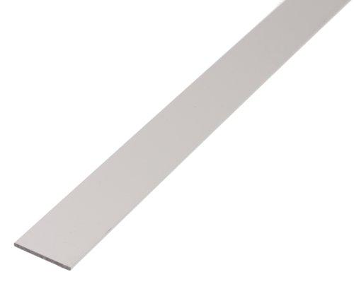 GAH-Alberts 471729, Barra piatta in alluminio anodizzato, 1000 x 50 x 3 mm, Argento (silberfarbig eloxiert)