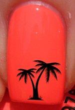 Exotische Palmen - Nagelabziehbild von YRNails (Exotische Wasser-designs)
