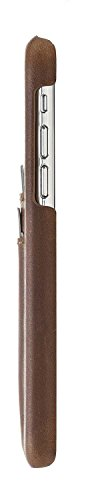 "Solo Pelle Iphone X Case Lederhülle Ledertasche Backcover "" Slimfit "" in Cognac Braun Burned Camel Braun"