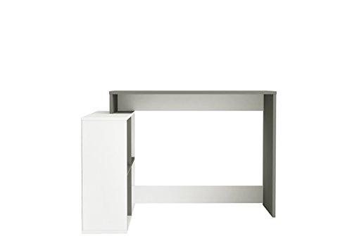 Demeyere Corner Escritorio, Pearl White/Grey, 111,9x100,7x76,7 cm (WxDxH)