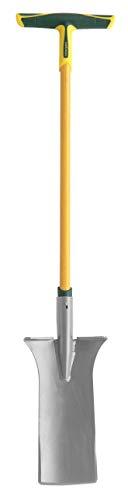 Leborgne Louchet d'arrachage Pro, Manche tri-matière en T, Poignée extra large de 25 cm, Tête acier au carbone, Longueur lame: 36 cm
