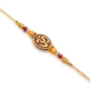 VMP Traditional Handmade Designer Mauli Thread Rakhi for Brother/Rakshabandhan Rakhi/Rudraksha Rakhi/Ganesh Rakhi/Swastik Rakhi/OM Rakhi/Pearl Rakhi/Rakhi for Man/Boys/Kids Rakhi with Free tika Set