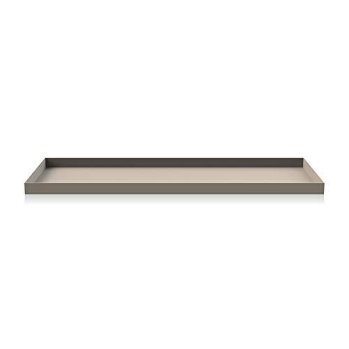 Cooee Design Tray Tablett, Edelstahl, Sand L : 50, B: 18, H: 2 cm Design Tray