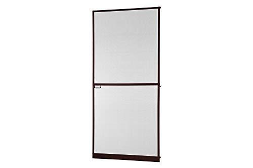 Insektenschutz Tür Master Slim + 100 x 210 cm mit Alurahmen in Weiß, Anthrazit oder Braun, Fliegengittertür in den Varianten Bausatz, auf Maß zugeschnitten und komplett aufgebaut