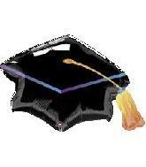 ANAGRAM Globo Super Shape Toque Graduación, Color Negro, 23278