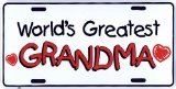 Best Grandma In The Worlds - World's GREATEST Grandma Metal License Plate 6 x Review