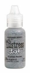 Signature Series Distress Stickles Glitter Glue .5 Ounce-Brushed Pewter - Metallic