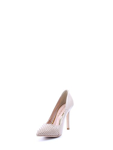 Café Noir Decolleté, Chaussures à talons - Avant du pieds couvert femme Beige