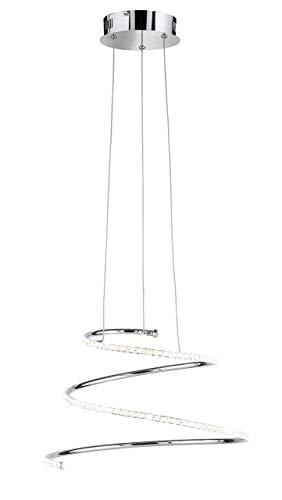 WOFI Deckenleuchte, Aluminium, Integriert, 27 W, Chrom, 49 x 49 x 1500 cm