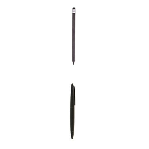 Dolity 2 Stk. Universal Eingabestifte Stylus-Stift Rund-Ende für kapazitivem Touch-Screen wie Handys, Tablets und Spitze-Ende für Resistiven Touchscreen wie GPS-Navigation, Nintendo Switch Stift Ende