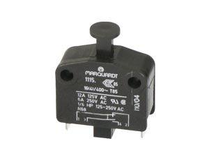 Empotrable perca de edad, líquidos Interruptor, pulsador, LED (bajo voltaje), 230V (Alto...