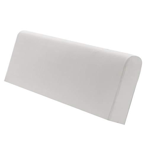 shfatao233 Stretch Holz Leder Bett Kopfteil Cover Protector Schonbezug für 140-170cm - Grau, wie beschrieben (A) -