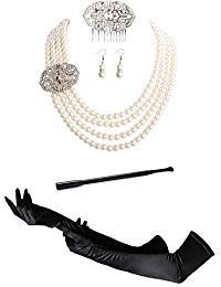 Audrey Hepburn Holly Golightly Frühstück bei Tiffany Modeschmuck und Accessoires Set -  mehrfarbig -  Einheitsgröße