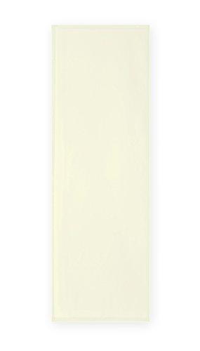 Haus und Deko Voile Uni Schiebegardine transparent ca. 60x245 cm Flächenvorhang Vorhang Gardine #1522 (Creme)
