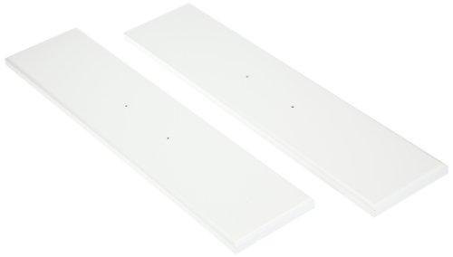 hjh OFFICE 673603 table d'ordinateur, bureau MIRA blanc avec tiroirs en noir, grande surface de travail, facile à monter, construction solide, surface finition laquée haute brillance