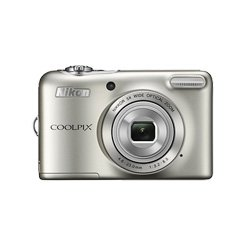 Nikon Coolpix L30 20.1 MP Point and Shoot Camera (Silver) with 5x Optical Zoom, Memory Card and Camera Case