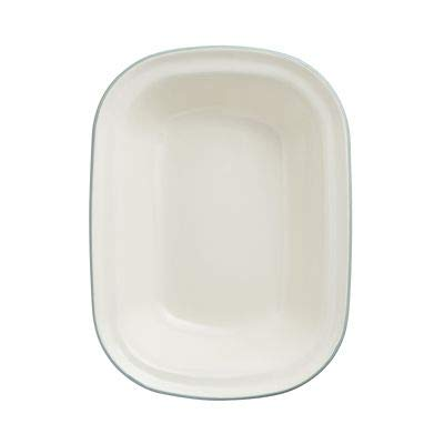 Mary Berry with Lakeland Cream and Green Enamel Oblong 26cm Pie Dish